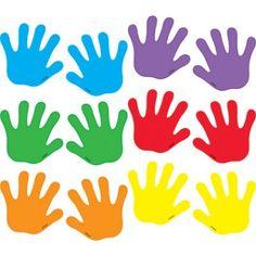 Diy Crafts - Trend Enterprises Classic Handprints Mini Accent (Set of Graphing Activities, Preschool Learning Activities, Preschool Crafts, Diy Crafts For Kids, Preschool Science, Science Classroom, Doodle Frames, School Labels, Numbers Preschool