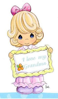 Photo of precious moments for fans of Precious Moments. Precious Moments Quotes, Precious Moments Coloring Pages, Precious Moments Figurines, I Love My Grandma, Clip Art, Sarah Kay, My Precious, Copics, Colouring Pages