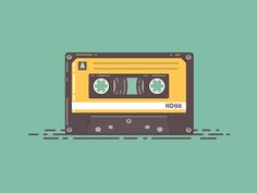 Dribbble - Audio Cassette by Graphicsoulz Tape Art, Retro Images, Retro Wallpaper, Hipster Wallpaper, Photo Wall Collage, Retro Aesthetic, Kawaii Art, Cute Cartoon Wallpapers, Backgrounds