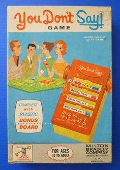 1963 You Don't Say Board Game