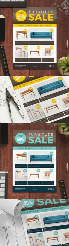 Furniture Sale Flyer 02  — PSD Template #desk #home • Download ➝ https://graphicriver.net/item/furniture-sale-flyer-02/18118625?ref=pxcr