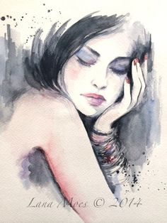 Fashion Illustration Original Watercolor Painting - Original Illustration by Lana Moes