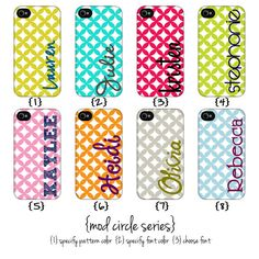 Personalized iPhone covers..I would never lose my phone!