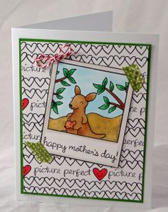 Lawn Fawn - Critters Down Under, Say Cheese + coordinating die, Happy Everything, Belinda's Borders, Critters Ever After _ Adorable mom's day card by Heidi via Flickr - Photo Sharing!