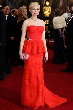 Oscars red carpet - Michelle Williams in Louis Vuitton