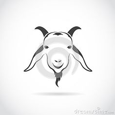 Photo About Vector Image Of An Goat Head On White Background