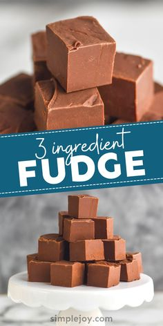 Only THREE ingredients for this amazing fudge recipe! Plus we have so many fun spins on it!