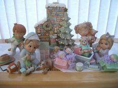 Navidad mañana tot escena juguetes regalos de por CathysCeramics