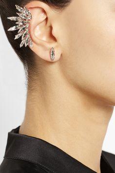 Ryan Storer Rose gold-plated Swarovski crystal ear cuff | Ilse de Lange - Songfestival