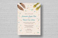mod rustic wedding invitations