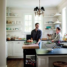80 Tasty Kitchens | Family Friendly Design | SouthernLiving.com     Tiny kitchen/open shelves