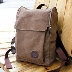 Mens-Vintage-Canvas-backpack-Rucksack-Shoulder-travel-Camping-Bag-Satchel-1013