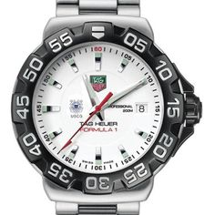 """US Coast Guard Academy TAG Heuer Watch - Men's Formula 1 Watch with Bracelet by TAG Heuer. $1495.00. TAG Heuer international two-year warranty. Authentic TAG Heuer watch only at M.LaHart  Co.. Officially licensed by the US Coast Guard Academy. Swiss-made Quartz movement.. Unique TAG Heuer presentation box.. Coast Guard Academy TAG Heuer men's Formula 1 watch brings sport and style to the USCGA by featuring the Coast Guard Academy logo with """"USCG"""" below. Brushed and Polished st..."""