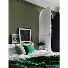 Plushious Velvet Bedspread in Emerald | Green Velvet Throw - French Bedroom velvet bedspread