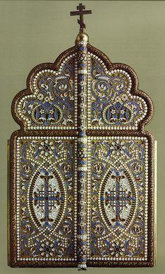 russianEnamels-Складень трехстворчатый. 1889 г. Москва | Flickr - Photo Sharing!