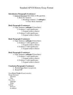 My Neighbourhood Essay For Kids Standard Essay Format  Standard Ap Us History Essay Format  Doc Descriptive Essay My Mother also The Black Cat Essay Ap Us History Essay Rubric Ap Us History Generic Dbq Essay Rubric  Informative Essay Topic