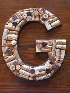 Hand Crafted Wine Cork Letters