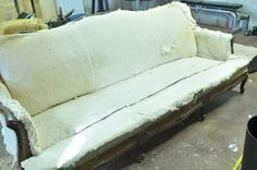 How to reupholster a settee!