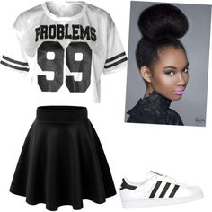 """""""99 Problems"""" by joigregg on Polyvore featuring polyvore fashion style adidas."""