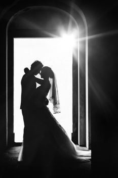 silhouette wedding picture