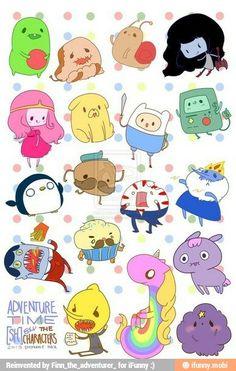 Kawaii adventure time characters
