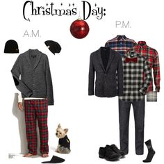 """""""Christmas Day Men - What to wear morning and night."""" by pinkpagodastyle on Polyvore"""