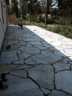 kalkstensflis stenläggning