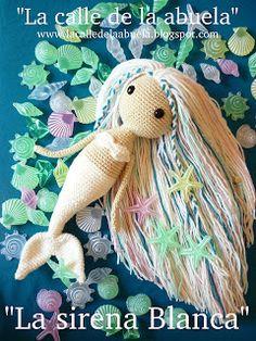 Crochet patterns free toys amigurumi spanish ideas for 2019 Knitted Dolls, Crochet Dolls, Cute Crochet, Crochet For Kids, Spanish Pattern, Crochet Amigurumi Free Patterns, Crochet Mermaid Pattern, Mermaids Pattern, Mermaid Dolls