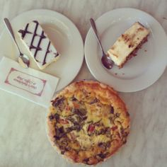 Quiche, Cakes & Coffee (They are big and tasty) at Ottos Bakery in #Hahndorf #Adelaide #southaustralia #safood #foodsa #bakery