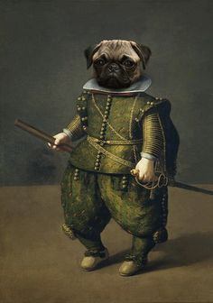 Seeing a pug or a monkey on a leash. Including a pug or monkey. Art historians and scholars would say animals in paintings dating. Pug Mug, Fu Dog, Pug Love, Dog Portraits, Pet Clothes, Dog Art, Fur Babies, Cute Dogs, Cute Animals