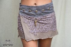SHORT PIXIE SKIRT  Fairy Faery Hippie Boho Organic by TimjanDesign