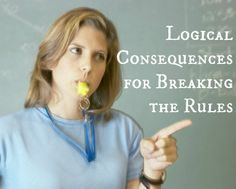 Logical Consequences for Breaking the Rules~ Rather than lose recess, connect the consequence to the inappropriate behavior. Great reminder, and though it is written for elementary school, I completely see ways to use in my grade English class. Classroom Behavior Management, Behaviour Management, Classroom Rules, School Classroom, Future Classroom, Classroom Organization, Classroom Ideas, Social Emotional Learning, Social Skills