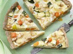 Gemüse-Tarte - mit Mandeln - smarter - Kalorien: 354 Kcal - Zeit: 45 Min. | eatsmarter.de