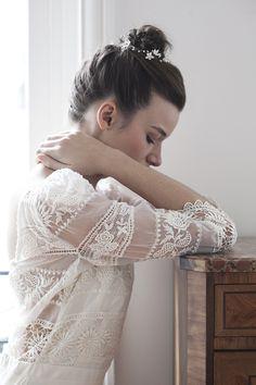 Robe Laure de Sagazan : tendances coiffure mariage 2016 Trendy Wedding blog The Reporthair