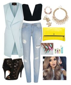 """Friday fashion"" by lizz-med on Polyvore featuring moda, River Island, Nine West, MOFE, Topshop, ShoeDazzle y Clinique"