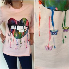 Pink shirt hand painted #pink #lips #hand painted #pinkshirt   #dubai #lebanon #iraq #ksa #kuwait #bahrain #egypt #Cairo #emirates #uae #photooftheday #qatar #fashion #fashionista #tflers #tagsforlikes #womanfashion #dubaifashion #fashiondubai #fashionable #fashionweek  #nuunfashion #elegant #trendy #ootd #ootdshare #ootn #colors #arabicletters #arabic