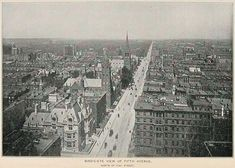 """Bird's - Eye"", aerial view of Fifth Avenue - North of 51st Street, NYC, c.1893. ~ {cwlyons}"