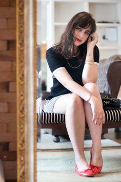 Pied de Poule http://melinasouza.com/2016/01/15/pied-de-poule/  Melina Souza Serendipity <3 Flats : Tutu ateliê de sapatilhas  <3