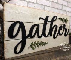 Distressed 3D Cutout Gather Plank