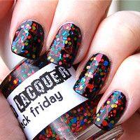 Black Friday   CustomBlended Glitter Nail Polish / by lushlacquer