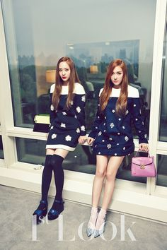 Jessica and Krystal Jung of Girls' Generation #SNSD and F(x) for 1st Look Magazine