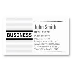 24 best tutor business card samples images on pinterest business modern grey stripes math tutor business card colourmoves