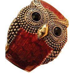 Owl Cuff- Red #bracelets #fashion #jewelry  9thelm.com