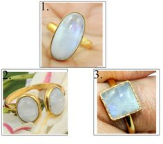 Wedding Rings Vintage, Vintage Rings, Gold Plated Bangles, Rainbow Moonstone Ring, Rings For Her, Amethyst Quartz, Gold Bangle Bracelet, Handmade Rings, Photo Jewelry