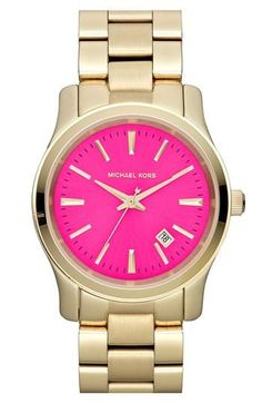 Pink & gold watch