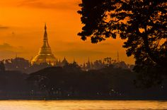 Shwedagon Pagoda at twilight, Yangon, Myanmar (Burma)