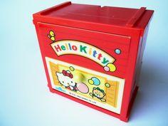 Hello Kitty Trinket Box Drawer Sanrio Original Red by pezzazz, $22.99