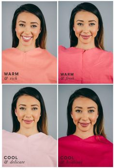 Best Pink for Warm Skin, Dark Hair & Eyes