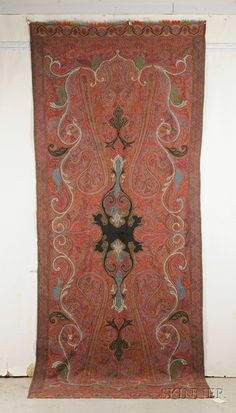 Kashmir Long Shawl, North India, 19th century, 11 ft. x 4 ft. 6 in. | Skinner Auctioneers Sale 2436