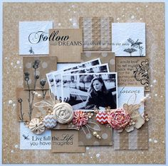 The Scrap Farm: Hand-made and loving it! Love using the same photo multiple times; and the background and embellishments are fabulous as well.